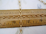4 feet gold tone plated steel ladder chain 4mm wide - f4951