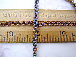 3 feet heat treated brass double link cable chain 4mm wide by the foot - f5316