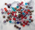 100 pcs. assorted colors fire polished glass abacus beads 6x4mm - f5365
