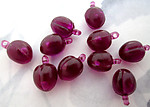 30 pcs. plastic purple plum fruit salad charms 10x8mm - f5511