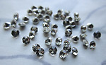 50 pcs. glass TTC clear chanton foiled rhinestones ss12 - f5943
