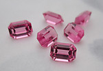 6 pcs. Swarovski art 4600 MCC machine cut crystal rose pink unfoiled octagon rhinestones 7x5mm - f6172