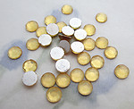 100 pcs. glass topaz foiled chanton rose flat back cabochons ss16 - f6371