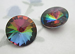 2 pcs. MCC machine cut crystal rivoli vitrial rainbow special effects rhinestones 12mm - f6423