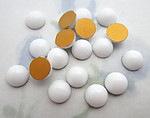 50 pcs. glass white milk dome flat back cabochons 5mm - f6478