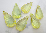18 pcs. acrylic starburst faceted tear drop charms 24x12x5mm - f6594