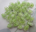 25 pcs. glass green givre bumpy beads 10x6mm - f6675