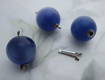 10 pcs. blue moon glow spun nylon ball clasps 12.5mm - f6688
