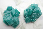 4 pcs. plastic green cubist rock formation geode cabochons 45x32mm - f6734