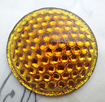 glass topaz reflector bumpy back cabochon 37mm - f6825