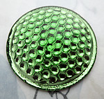 glass green reflector bumpy back cabochon 37mm - f6826