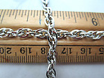 2 feet silver tone plated rope chain 5mm wide - f6868