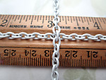 3 feet pre cut white cold enamel cable chain 4mm wide - f6883b