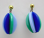 plastic 1960's stylish Twiggy on Carnaby Street mid century modern pierced drop earrings - j6505
