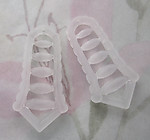 6 pcs. frosted lucite ladder charms 36x18mm - r171
