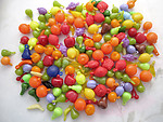 50 pcs. assorted plastic fruit charms - r173