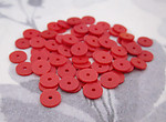 220 pcs. red plastic matte disk beads sequin 6x.5mm - r212
