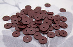 220 pcs. brown plastic matte disk bead sequin 6x.5mm - r213