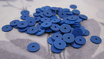 220 pcs. blue plastic matte disk beads sequin 6x.5mm - r215