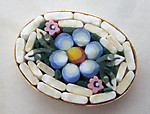 micro mosaic glass flower cabochon 19x14mm - r402