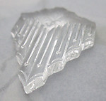 glass clear art deco relief flat back cabochon 23x18mm - r410