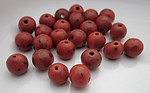 25 pcs. Czech glass coral orange speckled beads 8mm - r420