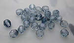 50 pcs. Czech glass light blue faceted fire polished beads 6mm - s107
