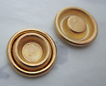 6 pcs. raw brass concentric circle 8mm settings 20mm - s115