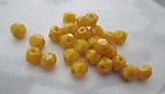 75 pcs. glass English cut yellow faceted beads 4mm - s134