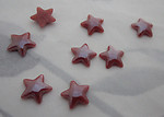 24 pcs. glass brown star flat back cabochons w iridescent finish 8mm - s147