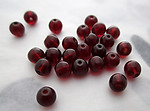 75 pcs. glass red beads 4mm - s201