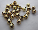 50 pcs. gold tone metal round beads 6mm - s237