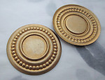 4 pcs. raw brass ornate art deco 13mm flat back cabochon settings - s72