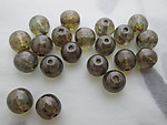 50 pcs. Czech glass olivine speckled iridescent glass round druk beads 6mm - s82