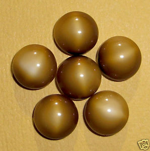 30 pcs. glass brown cabochons 9mm - f79