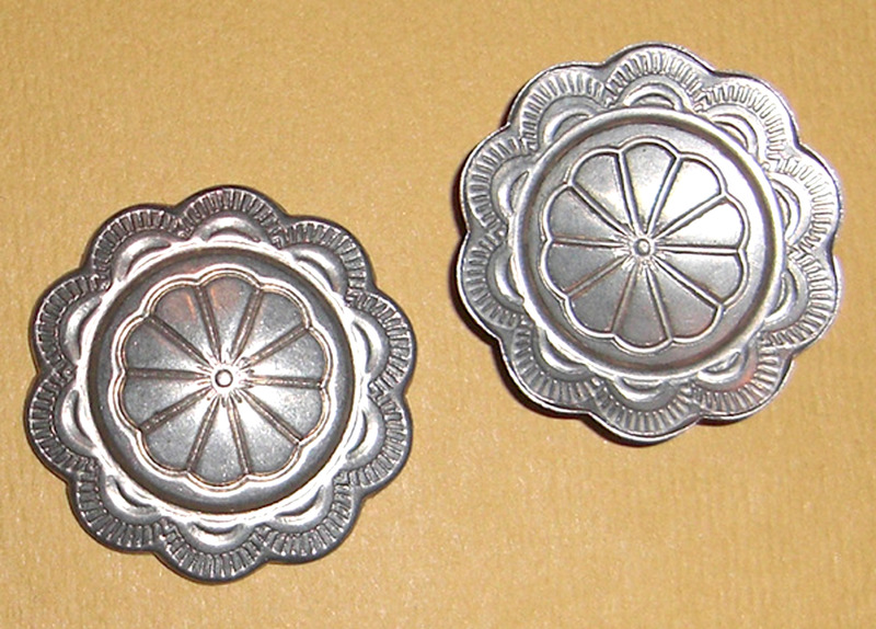 2 pcs. nickel silver concho stampings 25mm - f1757