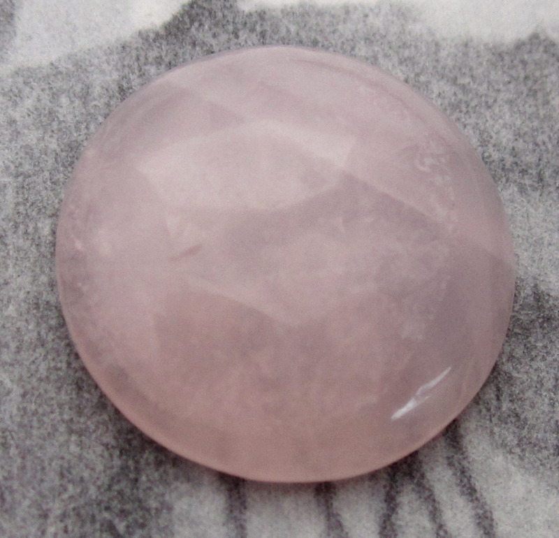 3 pcs. genuine rose quartz stone flat back cabochons 15mm - f4020
