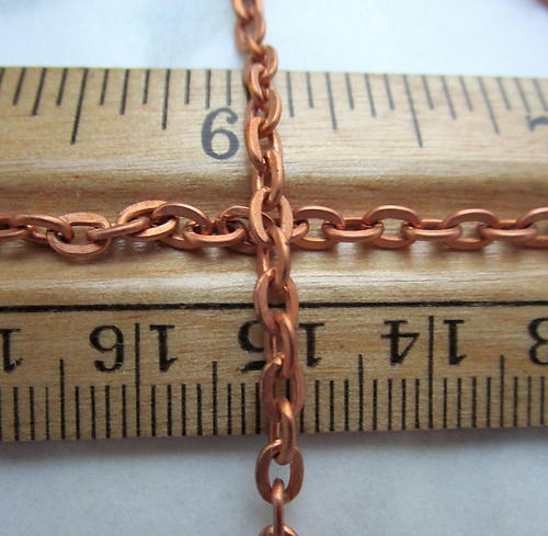 5 feet copper coated steel cable chain 3.5mm wide - c23