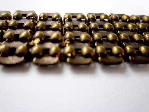 1 foot  raw brass wide link chain 17mm wide - c05