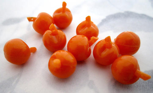 10 pcs. plastic orange tomato fruit salad charms 10x9mm - f5510