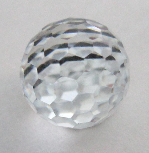 Swarovski 4861 MCC machine cut crystal disco fire ball flat bottom comet argent light VZ cabochon 10mm - f6007
