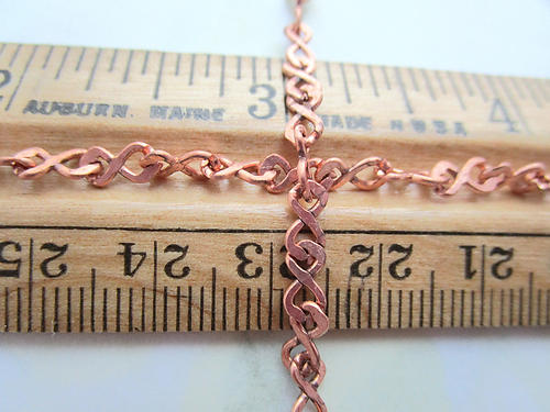 3 feet copper coated figure 8 infinity chain 4mm wide - f6889