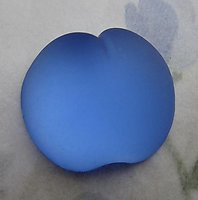 frosted Cuba glass foiled apple fruit flat back cabochon 20x18mm - d220