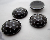 12 pcs. brown plastic geodesic dome cabochons 13mm - f3621