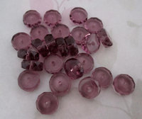 25 pcs. glass amethyst purple faceted rondelle beads 12x5mm - f4600