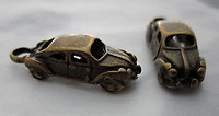 6 pcs. antiqued brass plated car automobile charms 18x8mm - s198