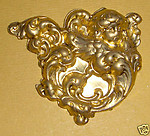 2 pcs. Raw brass ornate cherub angel stampings f766