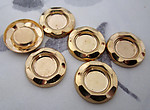 18 pcs. raw brass settings for a 7mm flat back cabochon - f3506