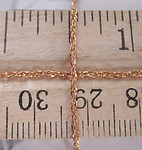 9 feet raw brass dainty rope chain 1mm wide - f4006