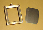 brass frame setting with base 22x16mm - f1472